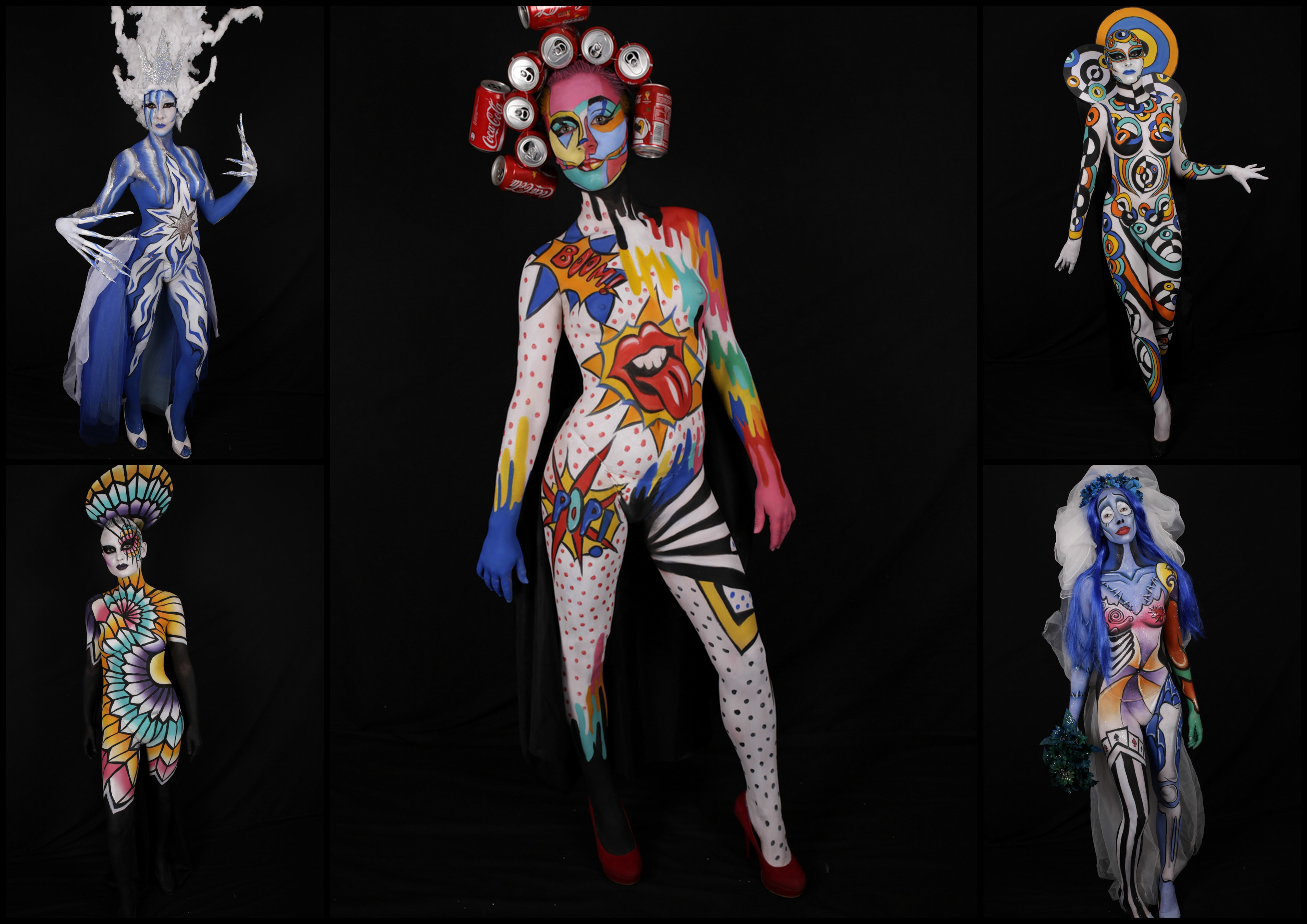 Bienvenue au défilé body painting de MAKE UP FOR EVER
