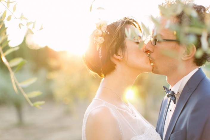 photo mariage golden hour