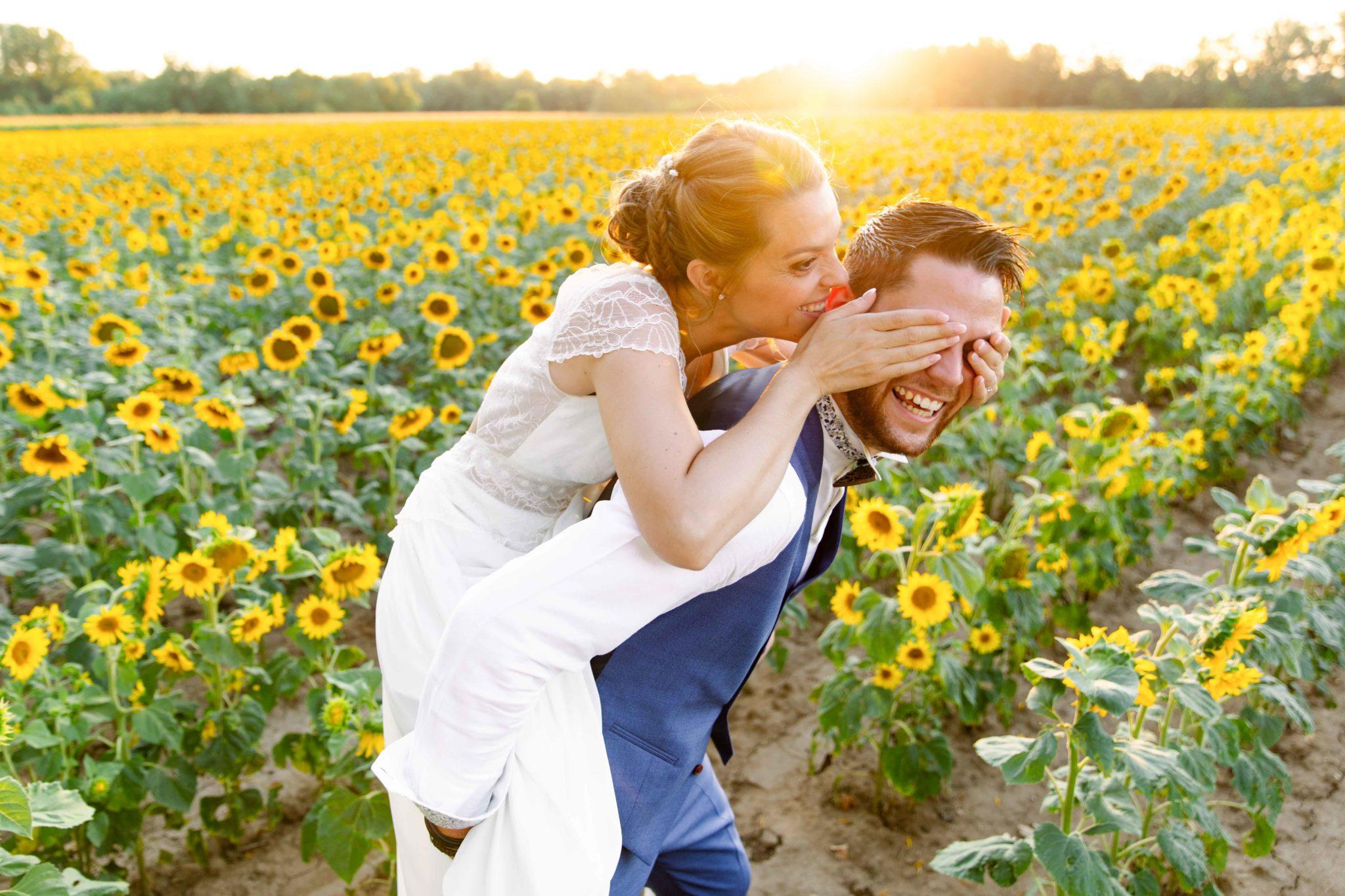 mariage tournesols